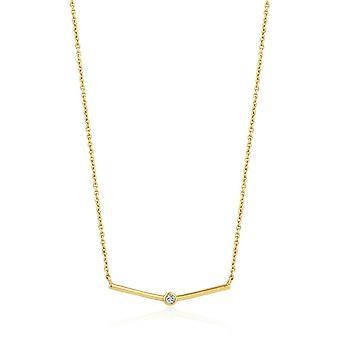 Ania Haie vergoldet Sterling Silber 'Touch Of Sparkle Schimmer' solide Bar Halskette