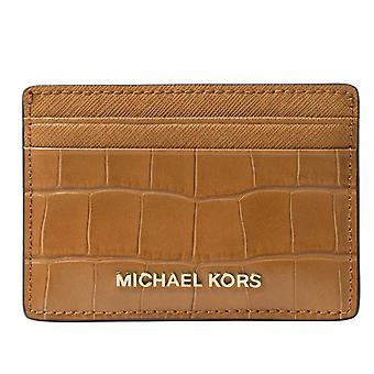 Michael Kors penge stykker krokodille-effekt læder - kortholderen - agern - 32F7GF6D0E-532