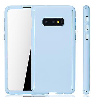 سامسونج غالاكسي S10e حالة حالة حماية الهاتف كامل غطاء خزان حماية احباط الأزرق الفاتح
