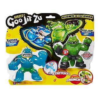 Heroes of Goo Jit Zu Versus 2 Pack - Thrash Vs Rockjaw