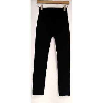 Kate & Mallory Leggings Seamless Knit w/ Fleece Lining Black A428086