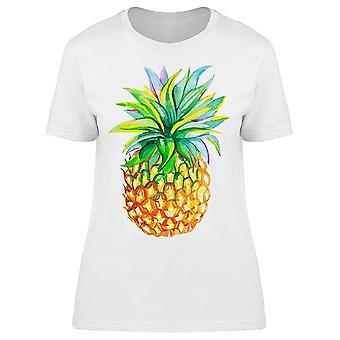 Watercolor Pineapple Fruit Art Tee Women's -Image by Shutterstock