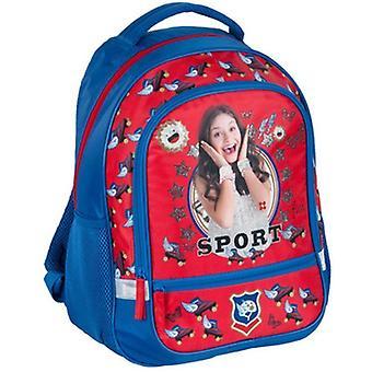 Disney Soy Luna Sport backpack bag 42x33x16cm Blue/Red