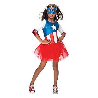 Girls Captain America Costume - Avengers