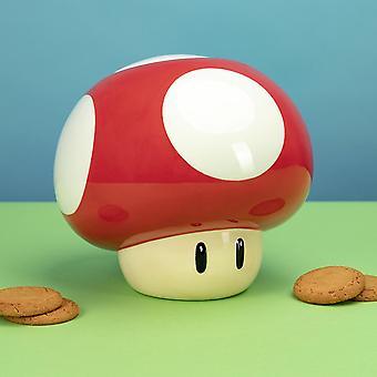 Nintendo Super sieni keksi Tina punainen/valkoinen, painettu, valmistettu 100% keraamiset.