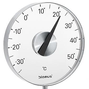Thermomètre de jardin blomus GRADO, en acier inoxydable mat, avec piquet de sol