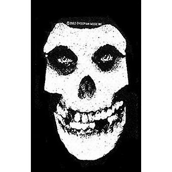 Misfits Patch Skull blanc bande Logo Horror Punk nouveau fonctionnaire tissé 13 x 11 cm