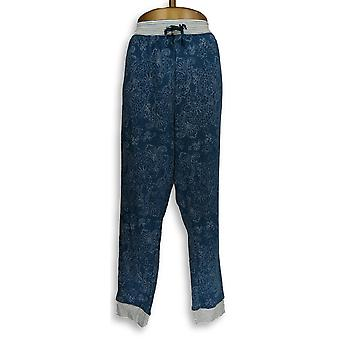 Carole Hochman Women's Plus Lounge Pants Paisley Dot Lounge Blue A310268