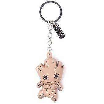 Guardians of the galaxy Keyring Keychain Baby Groot 3D new Official Rubber