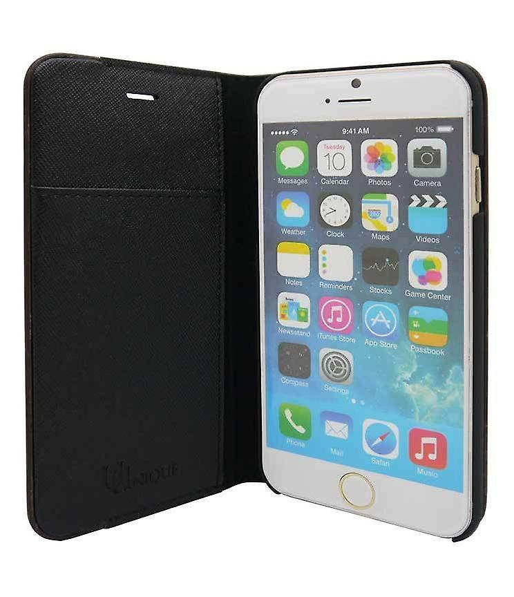 iPhone 6/6s Plus Case - 5.5 Inch Mode Wooden Maxi Croc Black Folio Hard Shell