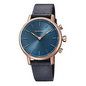 Kronaby S0669-1 Women's Carat Hybrid Smartwatch With Blue Strap