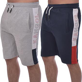 Kangol Mens Perry Fleece Sports Jersey Jogger Jogging Sweat Shorts Pants Bottoms