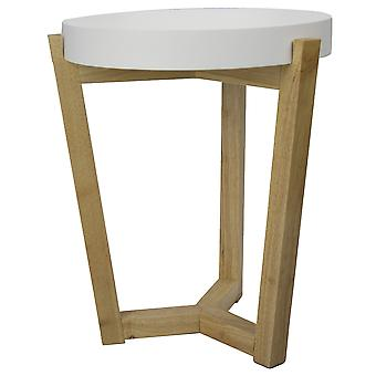 """16"""" X 16"""" X 20"""" White MDF  Wood End Table"""