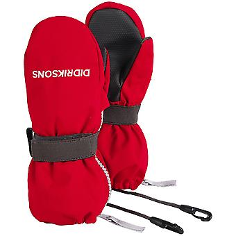 Didriksons Biggles 3 wasserdichte Zip Handschuhe | Chili Red