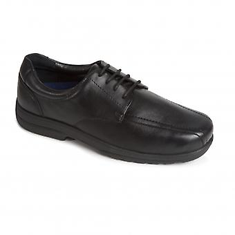 Padders Dexter Mens Leather Extra Wide (h/k) Shoes Black