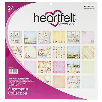 "Heartfelt Creations Double-Sided Paper Pad 12""X12"" 24/Pkg-Sugarspun, 12 Designs/2 Each"