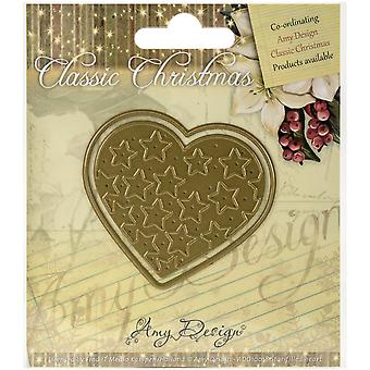 Find It Trading Amy Design Classic Christmas Die-Star-Filled Heart