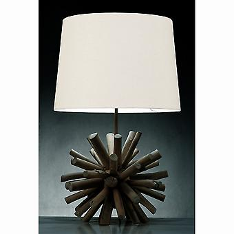 Modern Home Nautical Driftwood Ball Table Lamp - Brown