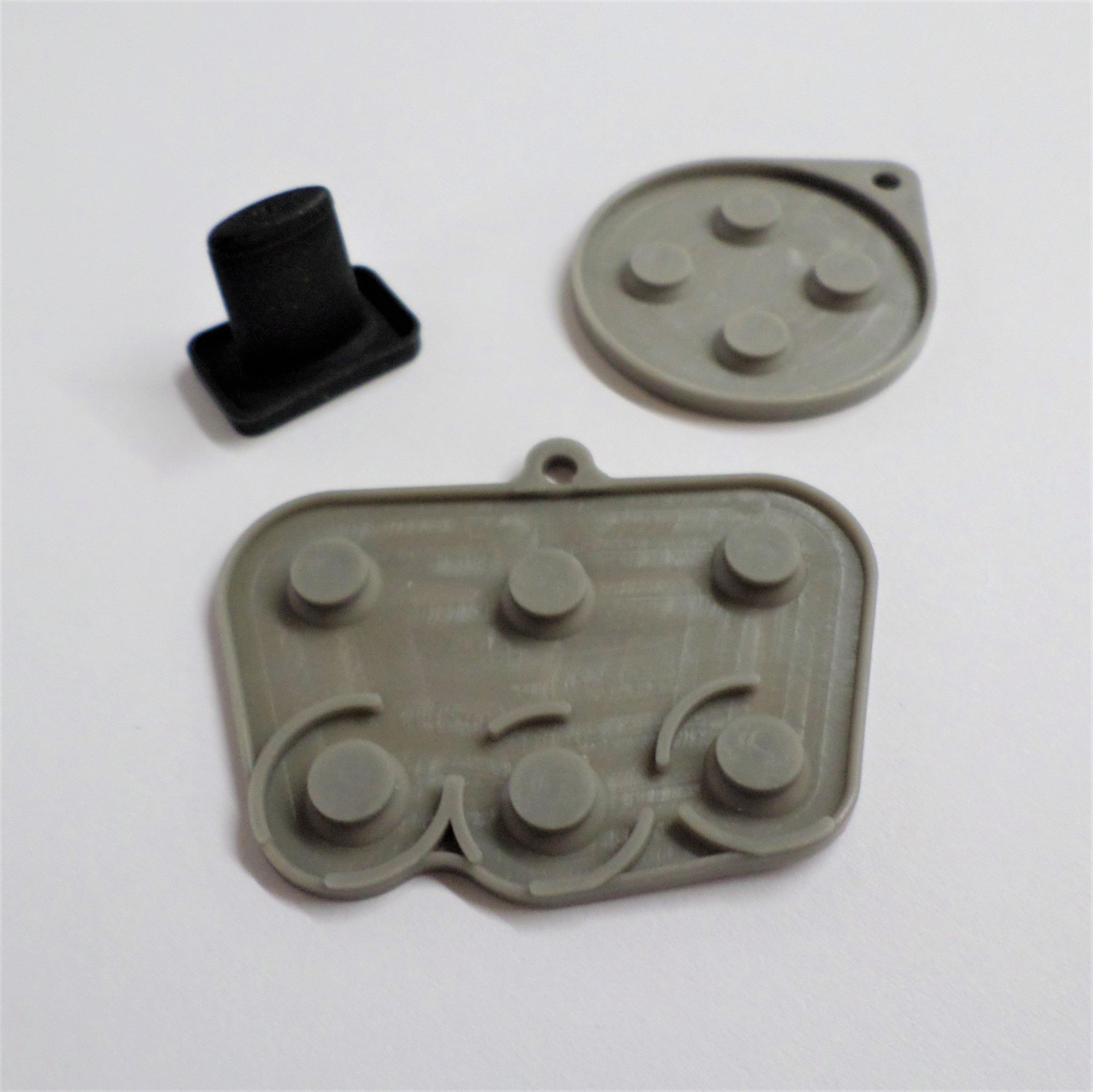 Conductive rubber pad button contacts kit for sega saturn controllers - grey & black | zedlabz