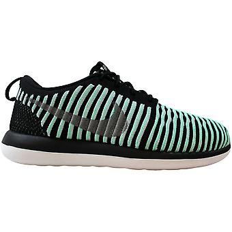 Nike Roshe Two Flyknit Green Glow/Metallic Silver 844620-301 Grade-School
