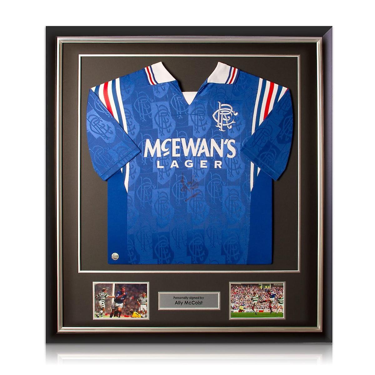 Ally McCoist Front Signed Rangers Shirt Framed