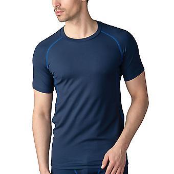 Mey 43002-668 Men's High Performance Yacht Blue Short Sleeve Top