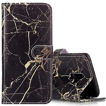 Wallet For Samsung Galaxy S9 PLUS Case Leather Black Gold Marble