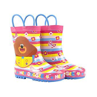 Hey Duggee Girls Wellies Children's Wellington Carry Handle Snow Boots