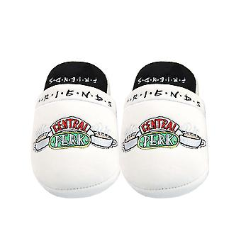 Amigos Central Perk Women's Soft White Slip-On Mule Slippers (Reino Unido 5-7)