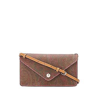 Etro 1n09187110600 Women's Brown Leather Shoulder Bag