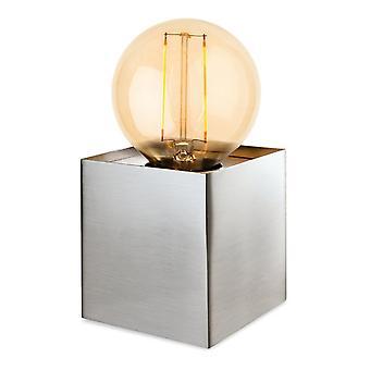 Firstlight Expose Vintage Retro Brushed Steel Bedside Table Lamp