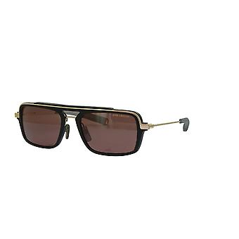 Dita Lancier LSA-404 DLS404 01 Matte Black-White Gold/Brown Polarised Sunglasses