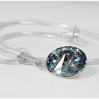 Pendant necklace light blue PMB1.2