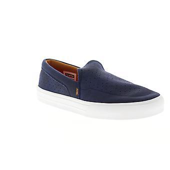 Globe Castro LYT  Mens Blue Suede Slip On Athletic Skate Shoes