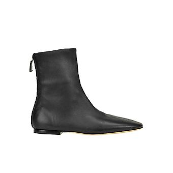 Victoria Beckham Ezgl096009 Women's Black Leather Ankle Boots