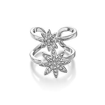 Vixi Nova Silver Double Star Verstelbare Ring Dames Sieraden NOVA-2R. W