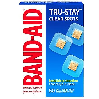 Band-aid clear spots square bandages, 7/8 inch x 7/8 inch, 50 ea