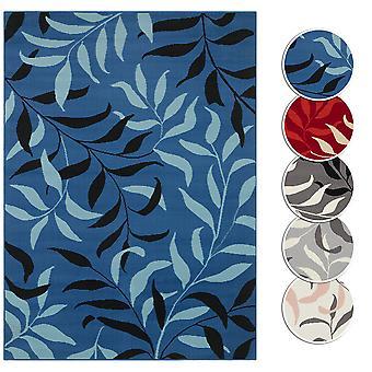 Carpet Boss Design ShortFlor Rug Liana Floral Plum Pattern