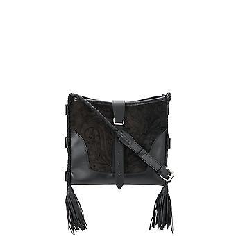 Etro 1n16924080001 Women's Black Leather Shoulder Bag