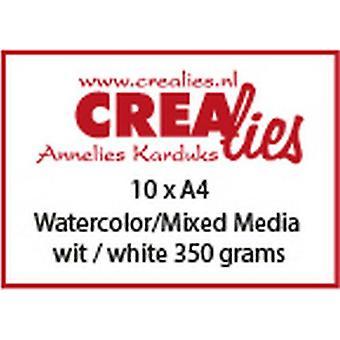 Crealies Basis A4 watercolor 350 grm (10x) CLBS105 A4