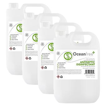 IPA Disinfectant Rubbing Alcohol Hand Sanitiser - 4x 5L Litre - Certified Surgical / Medical Grade - Made in the UK