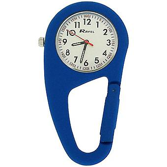 Ravel Royal Blue Clip On Rubberised Doctors Nurses Carabiner Fob Watch R1105.06