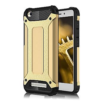 Shell pour Xiaomi Redmi 4A Hard Armor Protection Gold TPU Case