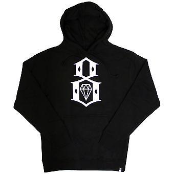 Rebel8 Logo Pullover Hoodie zwart