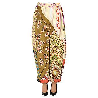 Chloé Ezgl079033 Women's Multicolor Silk Pants