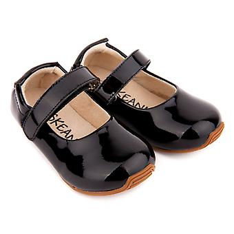 SKEANIE Toddler and Kids Leather Mary-Jane Shoes in Black