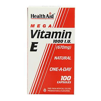 HealthAid Vitamin E 1000iu Natural Capsules 100 (801270)
