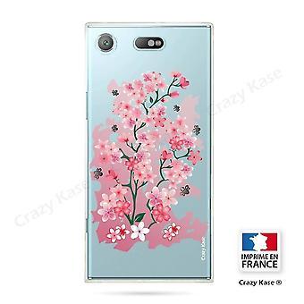 Runko Sony Xperia Xz1 Compact Pehmeä kirsikankukka kuvio