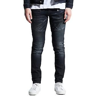 Embellish Clemente Biker Denim Jeans Blue