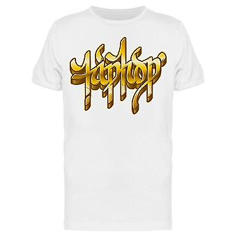 Hiphop Word Golden Graffiti Tee Miesten's -Kuva Shutterstock